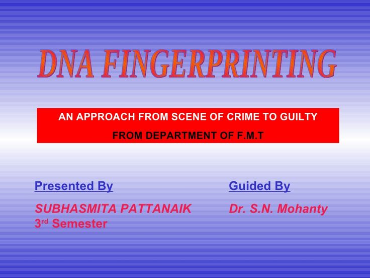 dna fingerprinting in forensic science Forensic biotechnology and dna fingerprinting- syllabus - course code: fbd-002 introduction: forensic science is a vital instrument for the detection or investigation of crime and the administration of justice, providing crucial information about the evidence found at crime scene, it is especially important that the training and education of.