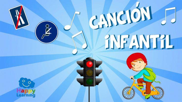 Rojo nos paramos, verde circulamos. Canción sobre la seguridad vial.