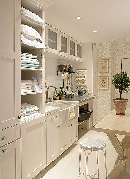 Top Cabinets in Laundry Room