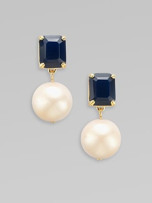 Hello, be mine? Faceted Drop Earrings.: Hello, Drop Earrings, Style, Mine, Preppy Drop Pearls, Faceted Drop