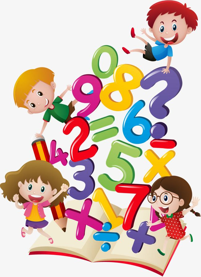 Vector Hand Drawn Cartoon Numbers Vector Hand Painted Cartoon
