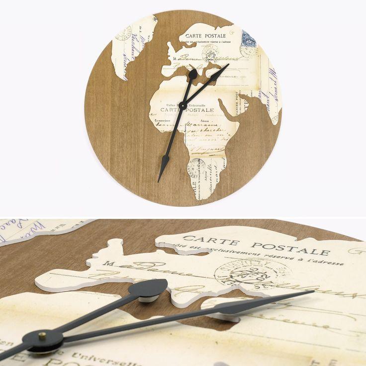 Relógio Mundo Branco 81 x 81 cm | referência 74070192 | A Loja do Gato Preto | #alojadogatopreto | #shoponline