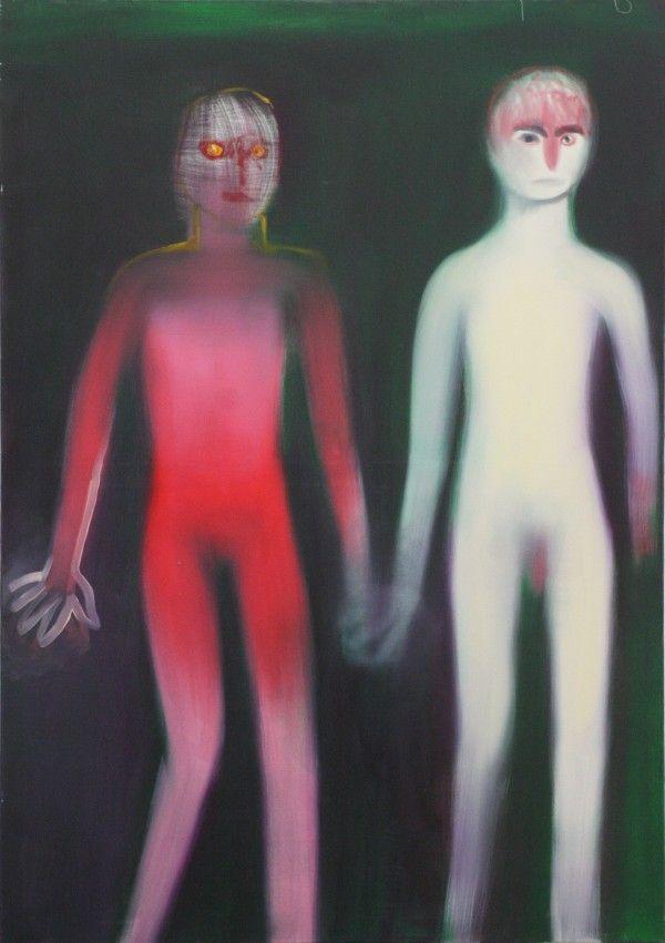 Artist: Miriam Cahn Venue: Meyer Riegger, Berlin Exhibition Title: FAMILIENRAUM + andere werke Date: February 3 – April 21, 2012
