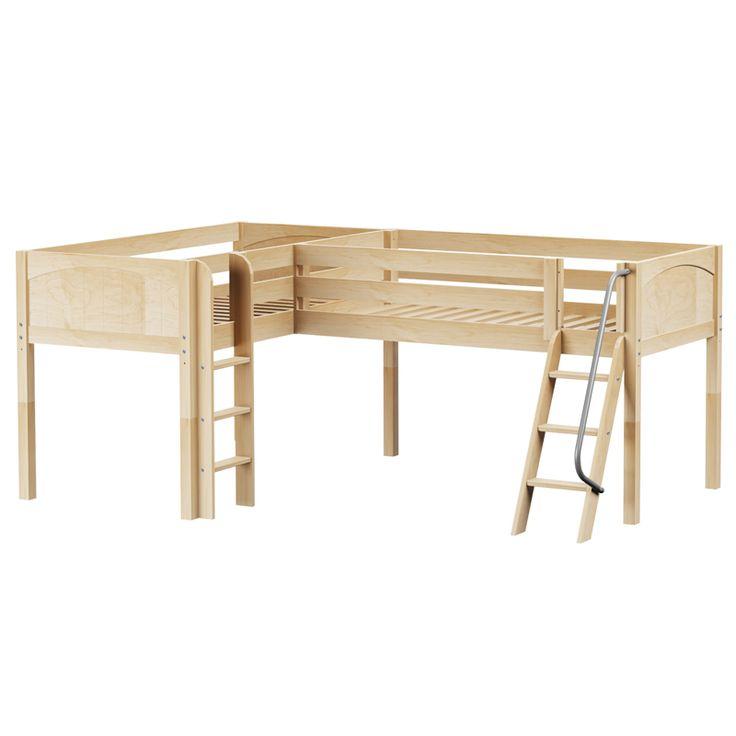Double Corner Low Loft Bed