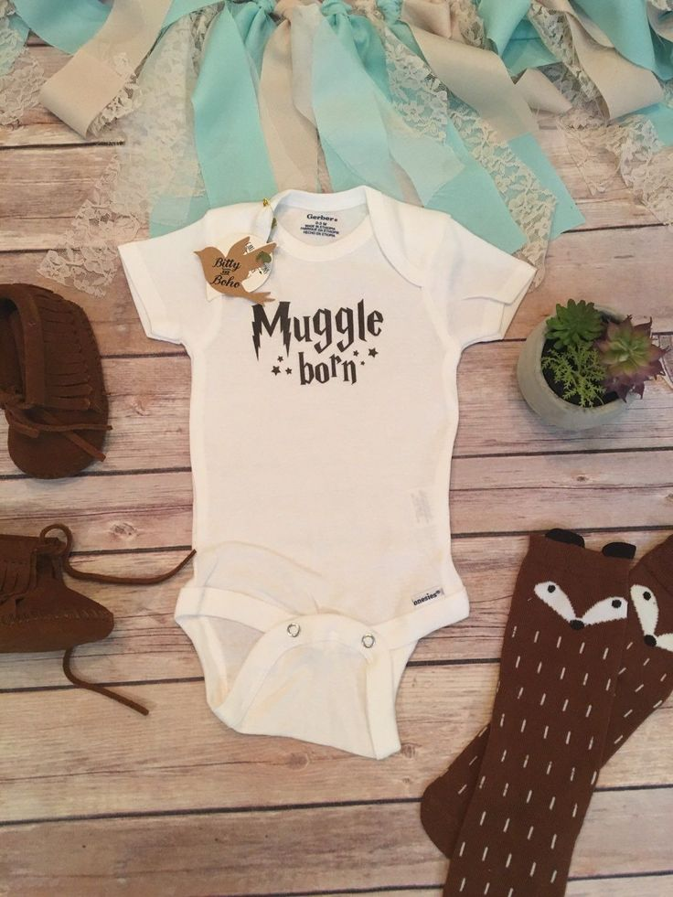 Muggle Born Onesie®, Harry Potter Baby Clothes, Harry Potter Onesie, Baby Shower Gift, Newborn Photo Prop, Unisex Baby Clothes, Funny Baby Onesies