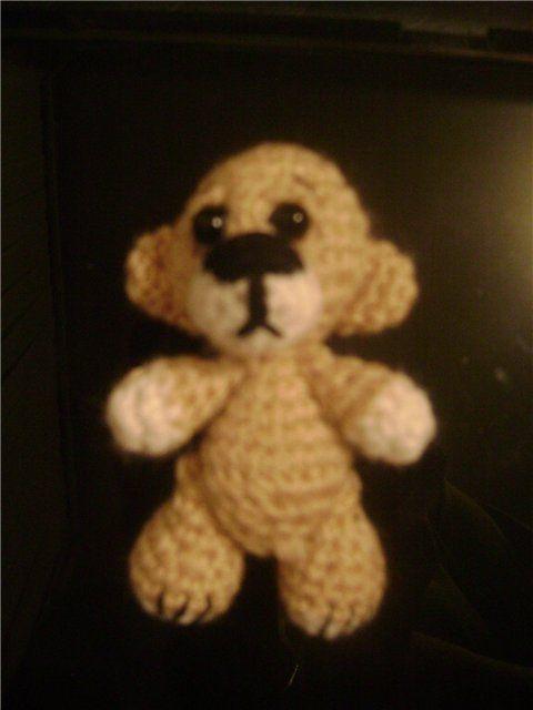 Вяжем крючком миниатюрного медвежонка (описание) - Ярмарка Мастеров - ручная работа, handmade