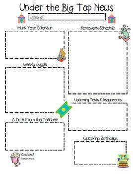 news letter templates for teachers