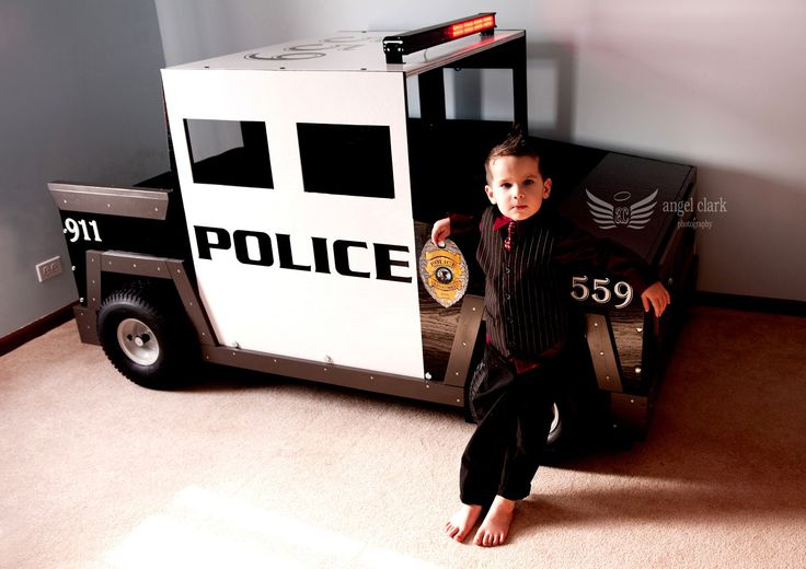 Police Car Toddler Bed | An Extreme Dream - Chicago Area Family Photojournalist