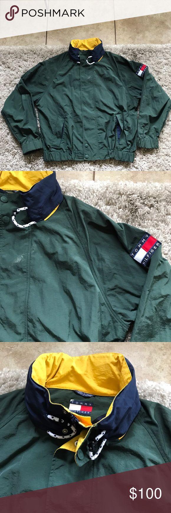 Tommy Hilfiger vintage jacket 90s Men's size Xl / what's your stilo! / rock some og heat / no rips / no peeling / small smudge center / see pics / unique piece Tommy Hilfiger Jackets & Coats
