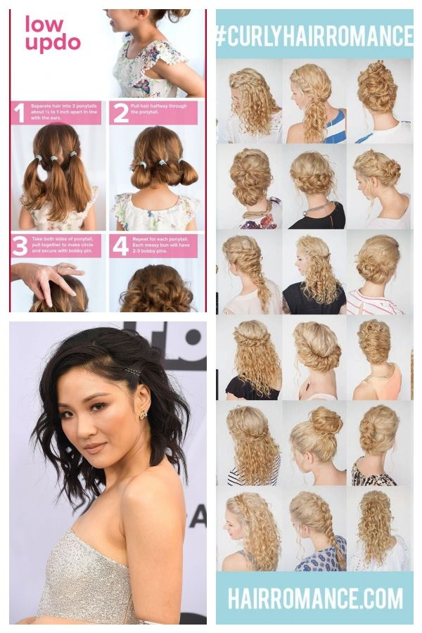 Quick And Easy Hairstyles For Short Curly Hair 318105 5 Fast Curlyhairstyles Formalcurlyhairstyles Easy Hairstyles Short Curly Hair Curly Hair Styles