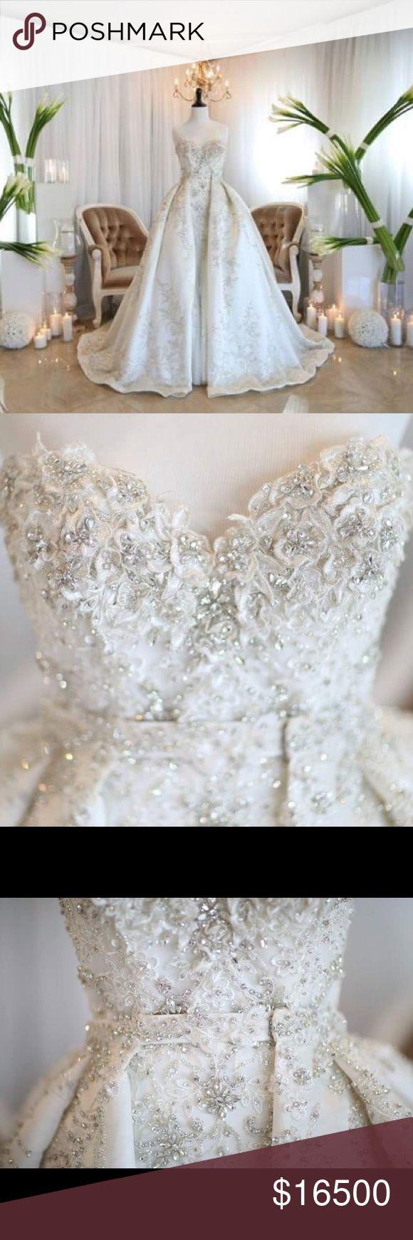 Wedding Dress mermaid ball gown Stephen Yearick Designer Wedding Gown mermaid dress with ball gown removable skirt by designer Stephen Yearick. stephan yearick Dresses Wedding