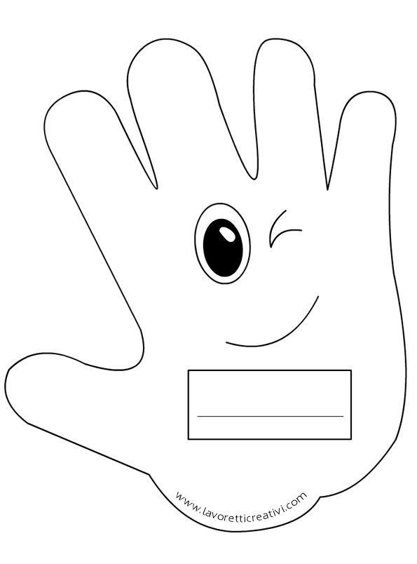 Mani portanome da attaccare su un cartellone il primo giorno di scuola. IDEE…