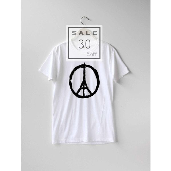 Pray For Paris Shirt Paris France French Shirt France T Shirt... ($25) ❤ liked on Polyvore featuring tops, t-shirts, t shirts, cotton t shirt, cotton tee, travel t shirts and peace t shirt