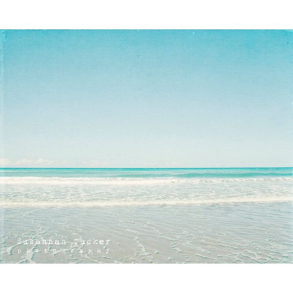 Beach photography, blue, teal, turquoise, aqua, waves, summer, ocean... ($35) ❤ liked on Polyvore featuring backgrounds, beach photo, deco and pics