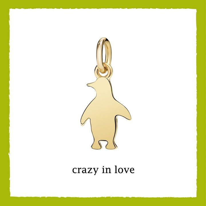 "Say something romantic with the ""crazy in love"" penguin charm from DODO Manfredi Jewels!  Each 18K dodo charm is filled with meaning! #manfredijewels #love #charms #valentinesday"