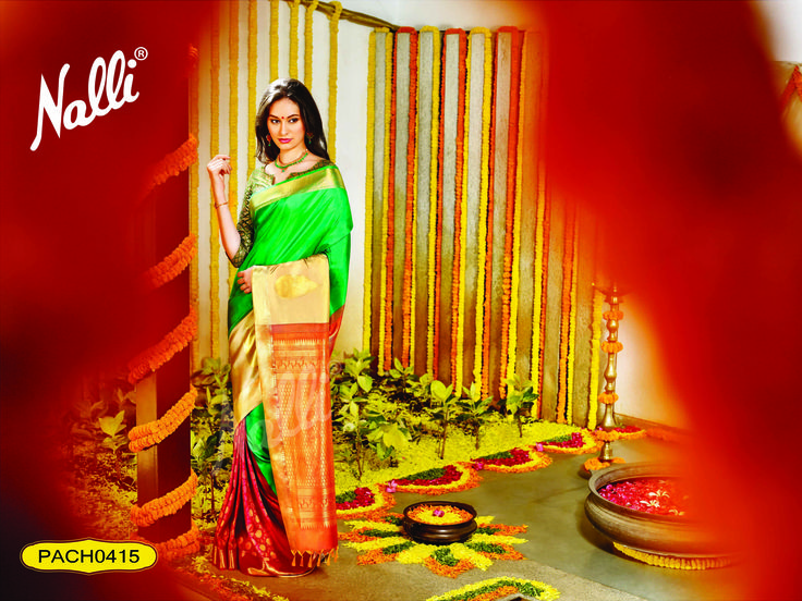 Code: PACH0415 - Kanchipuram Silk Saree, The price of this saree is Rs.17500 (approx)  To know more about this product contact our eshop team at eshop@nalli.com.