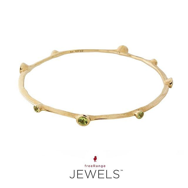 Did you know that June, August, and December are the only 3 months represented by three gems? Folks celebrating birthdays in August are lucky to be guarded by Peridot's good fortune and prosperity. Gift Ideas: Yellow gold peridot bangle. Shop Online: www.freerangejewels.co.za #freerangejewels#customdesign#handmade #jewellery#capetown#southafrica