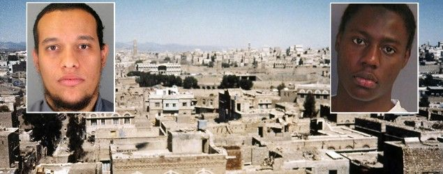 Panorama of Sanaa, Yemen (AP); Said Kouachi (Prefecture de Police de Paris/AP); Umar Farouk Abdulmutallab (Reuters)