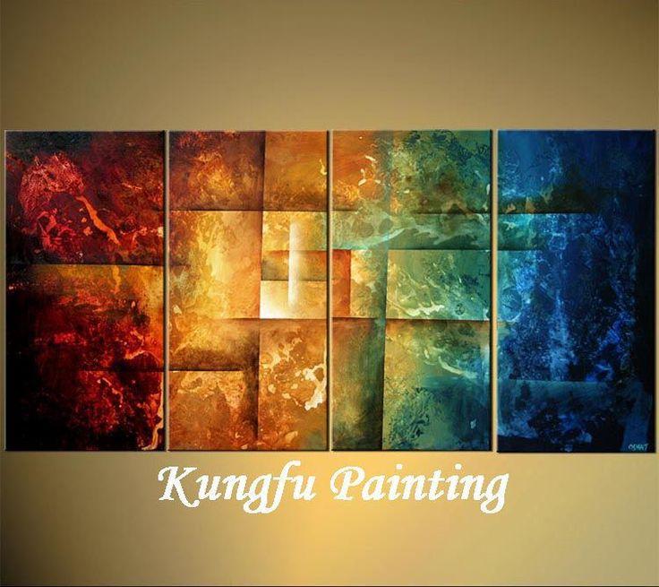 Pas cher 4 6082 100 vivant de peinture l 39 huile la main chambre d 39 - Peinture sur toile moderne pas cher ...
