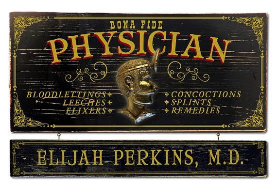 Physician Doctor  Vintage Plank Nameplate Sign by KandKSales