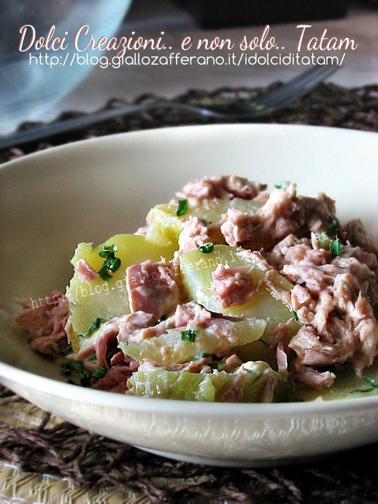 insalata di patate e tonno