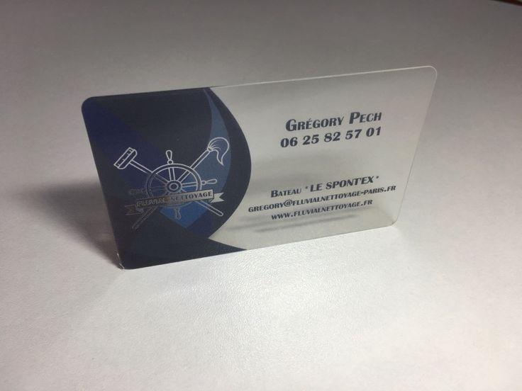 Carte Commerciale PVC Translucide Avec Blanc De Soutien Imprimerie ICB
