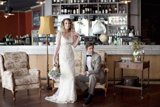 Vintage Glamour Wedding Inspiration Shoot winery