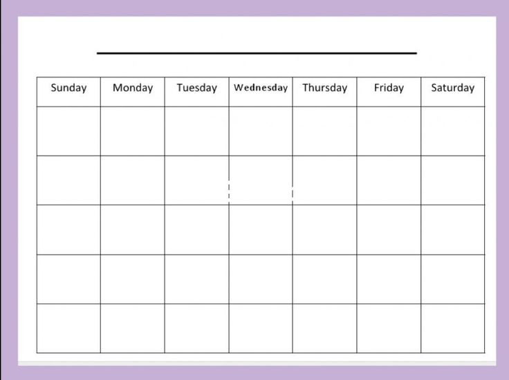 Printable Calendar Sample Blank Month Calendar Printable Calendar