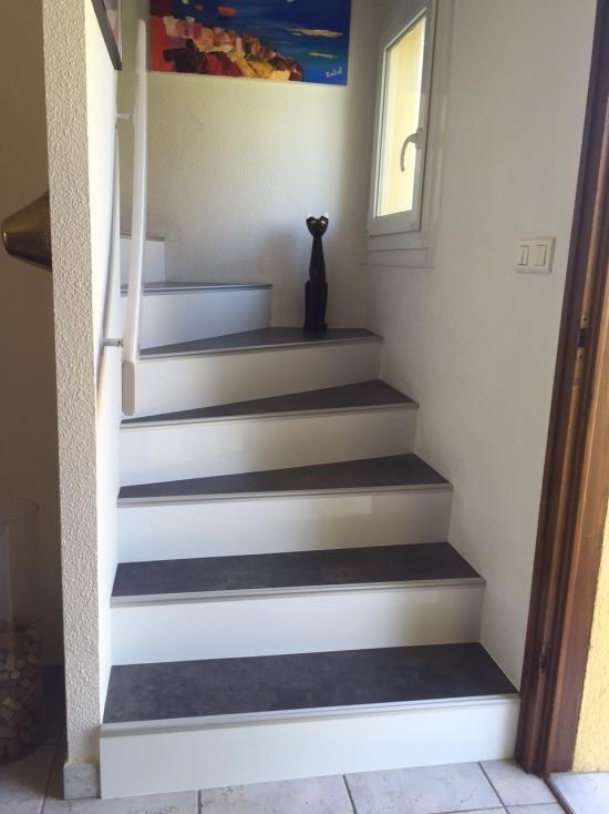 Habillage escalier béton en rénovation 68300 Saint-Louis
