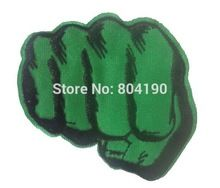 """3.1"""" Incredible Hulk Hands Fists The Avengers Party Applique Film TV MOVIE Cute Cartoon Embroidered Patch Badge(China (Mainland))"""