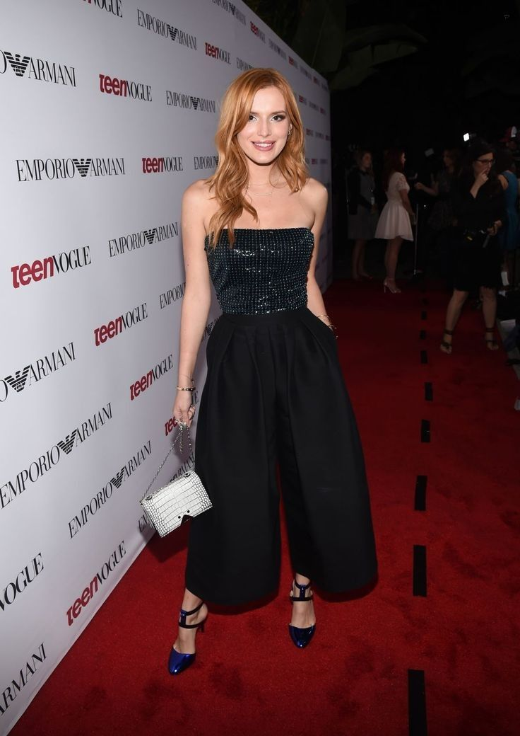 Bella Thorne.. Giorgio Armani top, and Emporio Armani trousers..... - Celebrity Fashion Trends