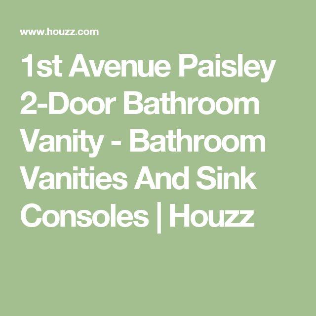 1st Avenue Paisley 2-Door Bathroom Vanity - Bathroom Vanities And Sink Consoles   Houzz