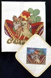 Chihuahua Dish Towel