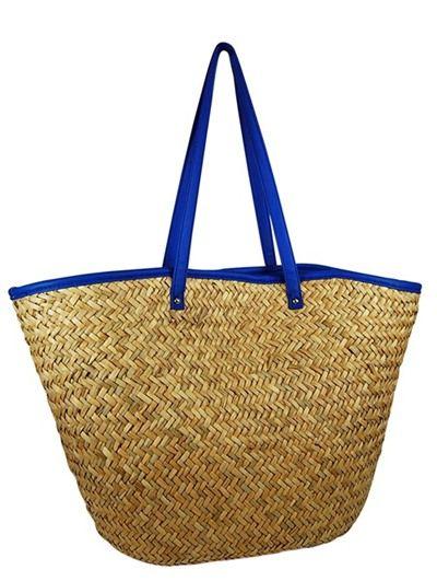 Straw Look Women Beach Bag