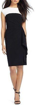 Lauren Ralph Lauren Color-Blocked Matte Jersey Dress