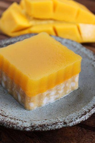 agar : Coconut Mango Jelly