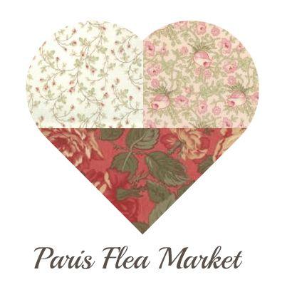Yosonline Quiltstoffen / Quilt Fabrics - Paris Flea Market