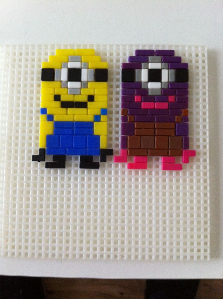 Minions In Ministeck Mini Steck Pinterest Doors And