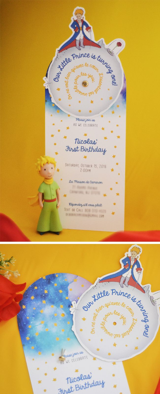 wording0th birthday party invitation%0A Le Petit Prince Party Invitation and Decorations by The Blush Market