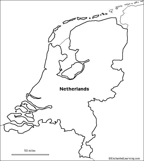 outline map Netherlands
