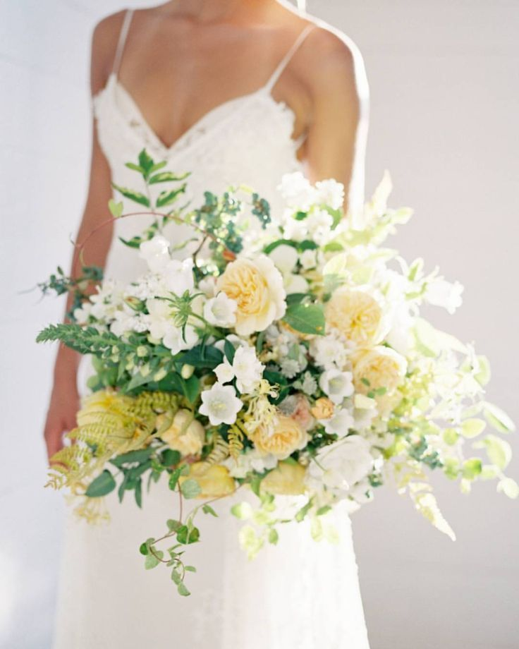 Style Me Pretty Stylemepretty On Instagram Be Still Our Beating Hearts This Bouquet Is Organic Lush And Overflowing With Bea Yellow Wedding Flowers Wedding Flower Arrangements Flower Bouquet Wedding