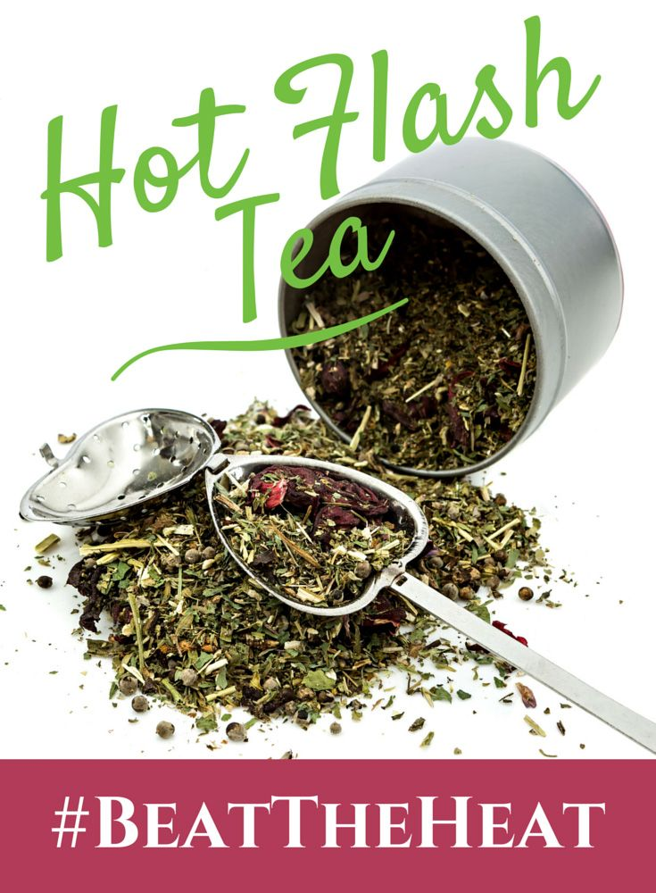 Tea is an amazing natural remedy for hormonal imbalances! For more about Hot Flash Tea, CLICK ==> http://www.bepreparedperiod.com/blog/hot-flash-tea/ #menopause