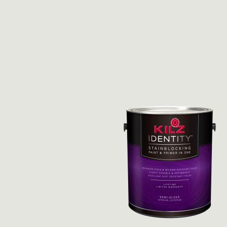 Kilz Identity Interior/Exterior Stainblocking Paint & Primer in One #RJ120 Alaska, 1 gallon