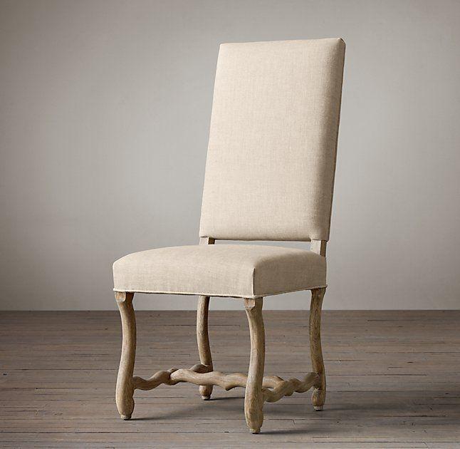 Os De Mouton Fabric Side Chair