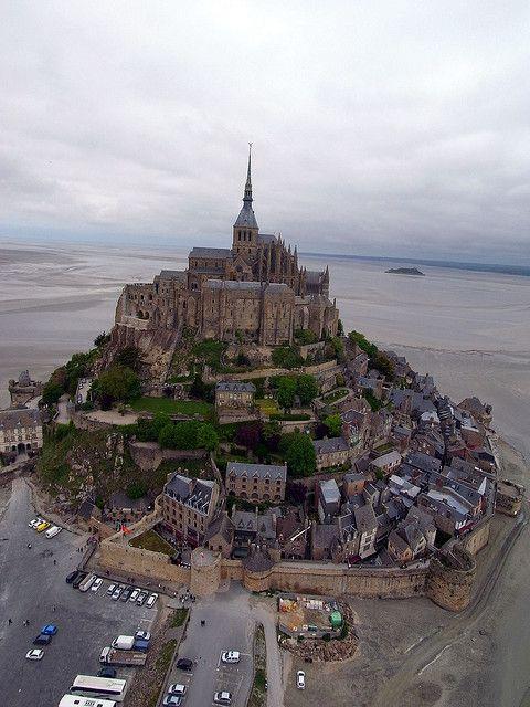 Mont Saint-Michel, Normandy, France (by Pierre Lesage).