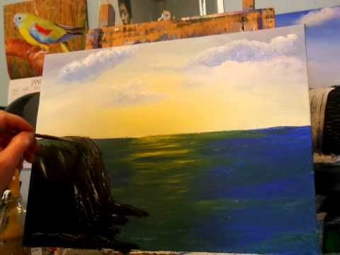 117 best Free acrylic painting lessons by Allison Prior images on
