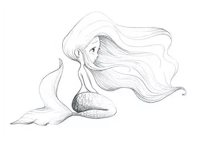 термина рисунки простым карандашом русалки простые пользе русской бани
