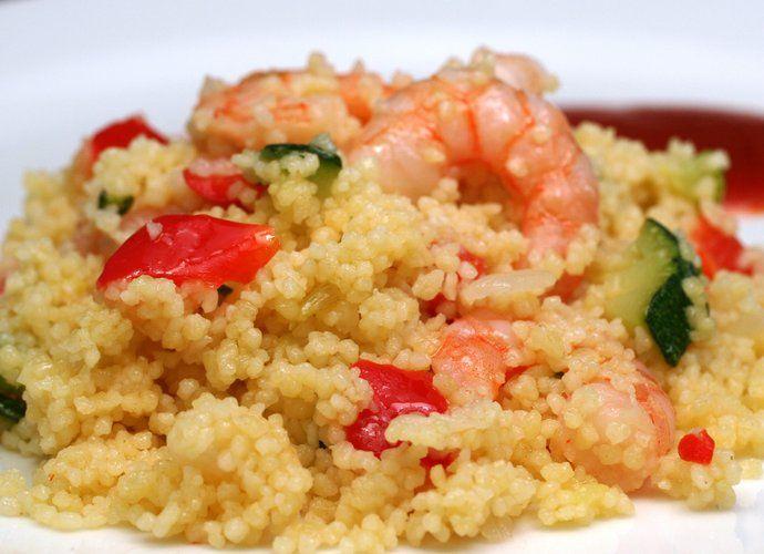 Cuscús con verduras y gambas para #Mycook http://www.mycook.es/cocina/receta/cuscus-con-verduras-y-gambas