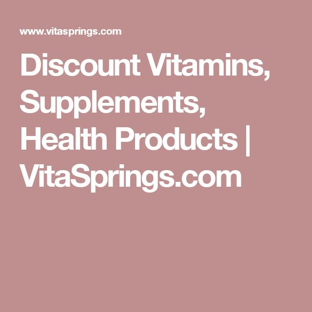 Discount Vitamins, Supplements, Health Products | VitaSprings.com