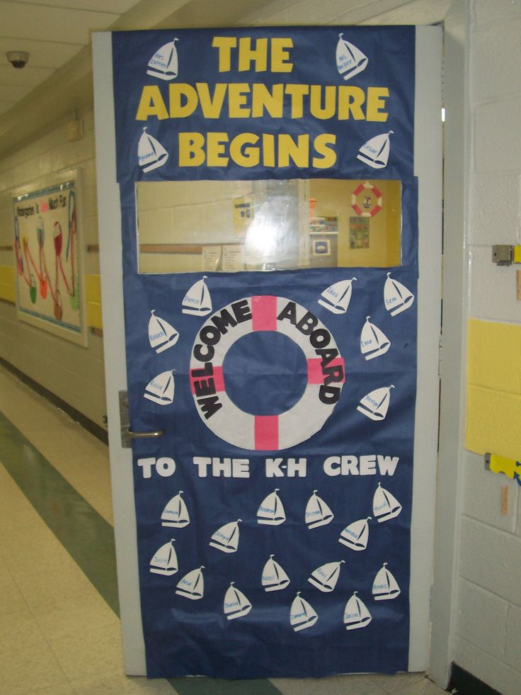 welcome door design for preschool  | 736 x 981